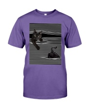 Cats Loves In Striped Shirt Premium Fit Mens Tee thumbnail
