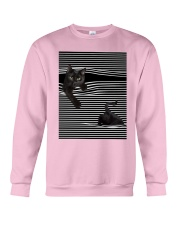 Cats Loves In Striped Shirt Crewneck Sweatshirt thumbnail