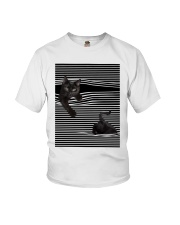 Cats Loves In Striped Shirt Youth T-Shirt thumbnail
