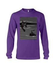 Cats Loves In Striped Shirt Long Sleeve Tee thumbnail