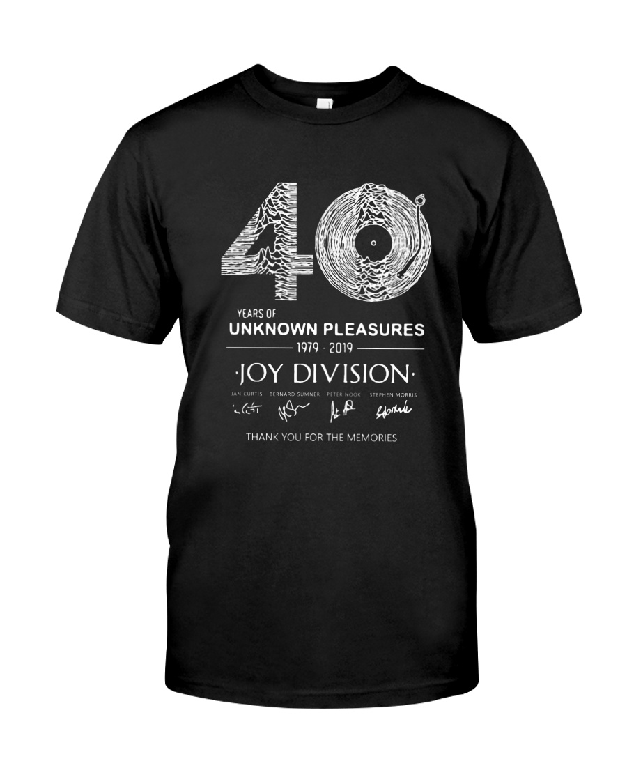 40 Years Of Unknown Pleasures Thank You Shirt Classic T-Shirt
