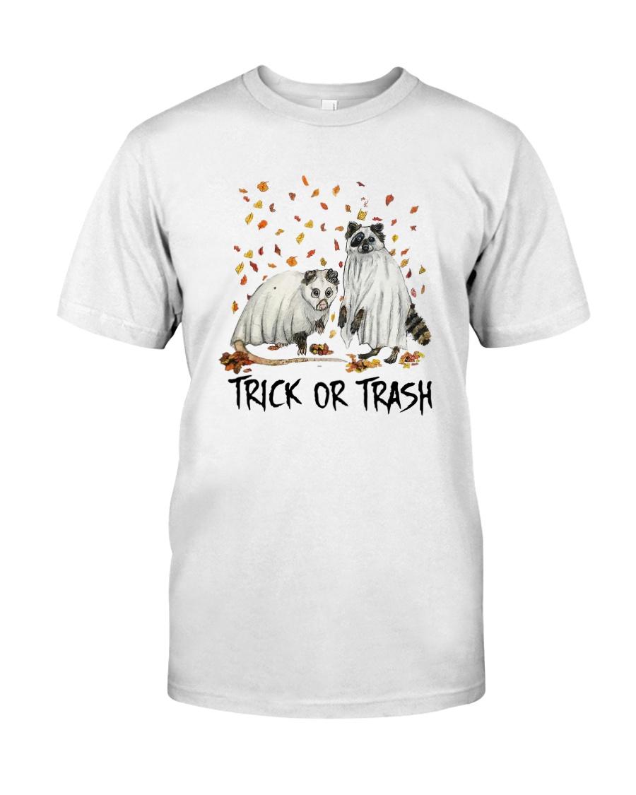 Halloween Racoon Ghost Trick Or Trash Shirt Classic T-Shirt