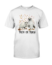 Halloween Racoon Ghost Trick Or Trash Shirt Classic T-Shirt front