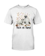 Halloween Racoon Ghost Trick Or Trash Shirt Premium Fit Mens Tee thumbnail