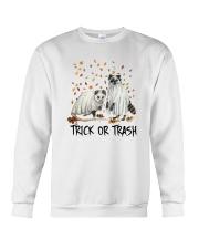 Halloween Racoon Ghost Trick Or Trash Shirt Crewneck Sweatshirt thumbnail