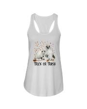 Halloween Racoon Ghost Trick Or Trash Shirt Ladies Flowy Tank thumbnail