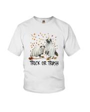 Halloween Racoon Ghost Trick Or Trash Shirt Youth T-Shirt thumbnail