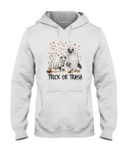 Halloween Racoon Ghost Trick Or Trash Shirt Hooded Sweatshirt thumbnail
