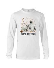 Halloween Racoon Ghost Trick Or Trash Shirt Long Sleeve Tee thumbnail