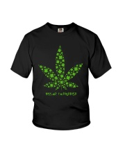 Cannabis Kiss Me I'm Highrish Shirt Youth T-Shirt thumbnail