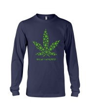 Cannabis Kiss Me I'm Highrish Shirt Long Sleeve Tee thumbnail