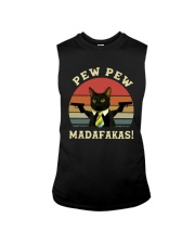 Vintage Cat With Two Guns Pew Pew Madafakas Shirt Sleeveless Tee thumbnail