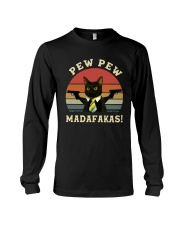 Vintage Cat With Two Guns Pew Pew Madafakas Shirt Long Sleeve Tee thumbnail