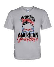 American Grandma Shirt V-Neck T-Shirt thumbnail