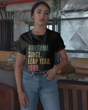 Awesome Since Leap Year 1980 Shirt Classic T-Shirt apparel-classic-tshirt-lifestyle-05