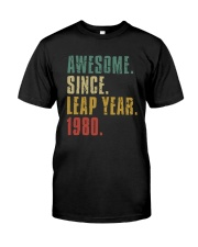 Awesome Since Leap Year 1980 Shirt Classic T-Shirt front