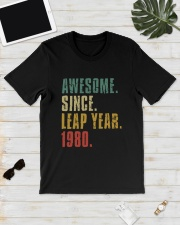 Awesome Since Leap Year 1980 Shirt Classic T-Shirt lifestyle-mens-crewneck-front-17