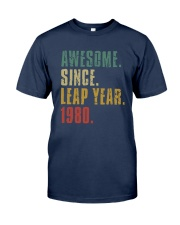 Awesome Since Leap Year 1980 Shirt Classic T-Shirt tile