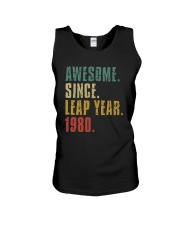 Awesome Since Leap Year 1980 Shirt Unisex Tank thumbnail