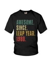 Awesome Since Leap Year 1980 Shirt Youth T-Shirt thumbnail