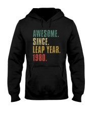 Awesome Since Leap Year 1980 Shirt Hooded Sweatshirt thumbnail