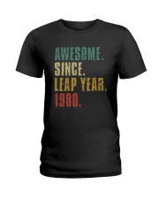 Awesome Since Leap Year 1980 Shirt Ladies T-Shirt thumbnail