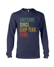Awesome Since Leap Year 1980 Shirt Long Sleeve Tee thumbnail