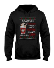 Survive On Coffee Alone She Also Needs Cats Shirt Hooded Sweatshirt thumbnail