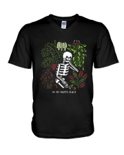 Bones In My Happy Place Shirt V-Neck T-Shirt tile