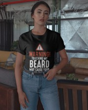 Warning Touch My Beard May Cause Clothes Shirt Classic T-Shirt apparel-classic-tshirt-lifestyle-05