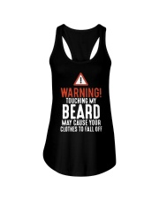 Warning Touch My Beard May Cause Clothes Shirt Ladies Flowy Tank thumbnail