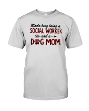 Kinda Busy Being A Social Worker Dog Mom Shirt Premium Fit Mens Tee thumbnail