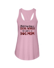 Kinda Busy Being A Social Worker Dog Mom Shirt Ladies Flowy Tank thumbnail