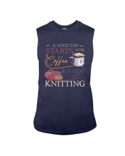 A Good Day Starts With Coffee And Ends Shirt Sleeveless Tee thumbnail