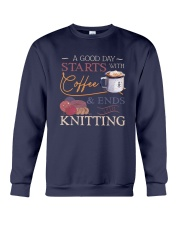 A Good Day Starts With Coffee And Ends Shirt Crewneck Sweatshirt thumbnail