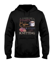 A Good Day Starts With Coffee And Ends Shirt Hooded Sweatshirt thumbnail
