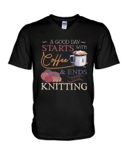 A Good Day Starts With Coffee And Ends Shirt V-Neck T-Shirt thumbnail