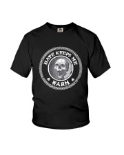 Skull Hate Keeps Me Warm Shirt Youth T-Shirt thumbnail