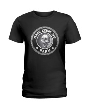 Skull Hate Keeps Me Warm Shirt Ladies T-Shirt thumbnail