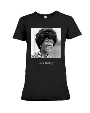 Shirley Chisholm Black History Shirt Premium Fit Ladies Tee thumbnail