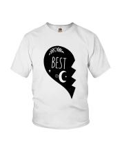 Half Heart Best Shirt Youth T-Shirt thumbnail