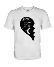 Half Heart Best Shirt V-Neck T-Shirt thumbnail