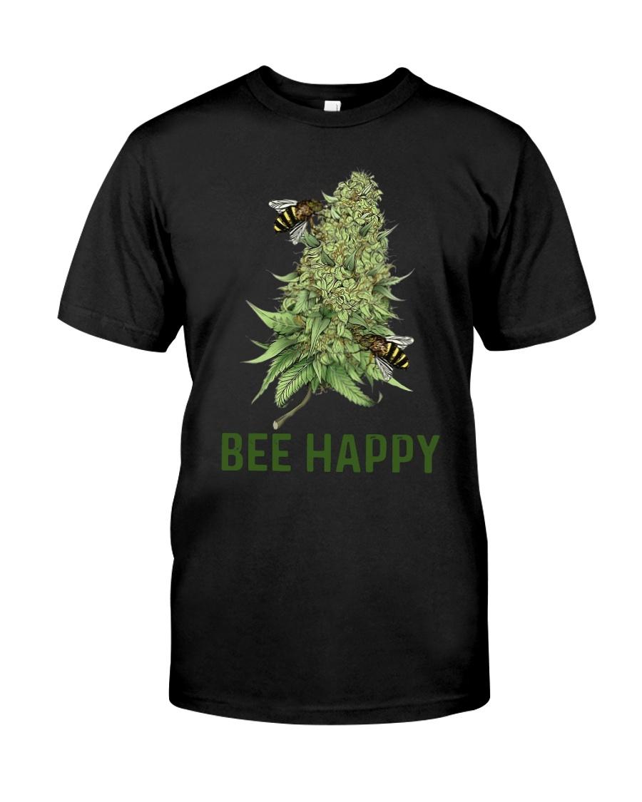 Cannabis Bee Happy Shirt Classic T-Shirt
