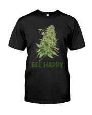 Cannabis Bee Happy Shirt Classic T-Shirt front