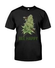 Cannabis Bee Happy Shirt Premium Fit Mens Tee thumbnail