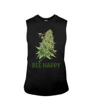 Cannabis Bee Happy Shirt Sleeveless Tee thumbnail