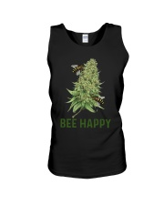 Cannabis Bee Happy Shirt Unisex Tank thumbnail