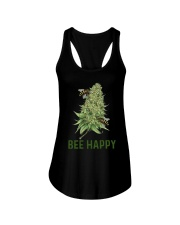 Cannabis Bee Happy Shirt Ladies Flowy Tank thumbnail