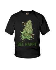 Cannabis Bee Happy Shirt Youth T-Shirt thumbnail