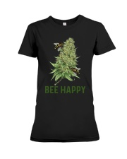 Cannabis Bee Happy Shirt Premium Fit Ladies Tee thumbnail